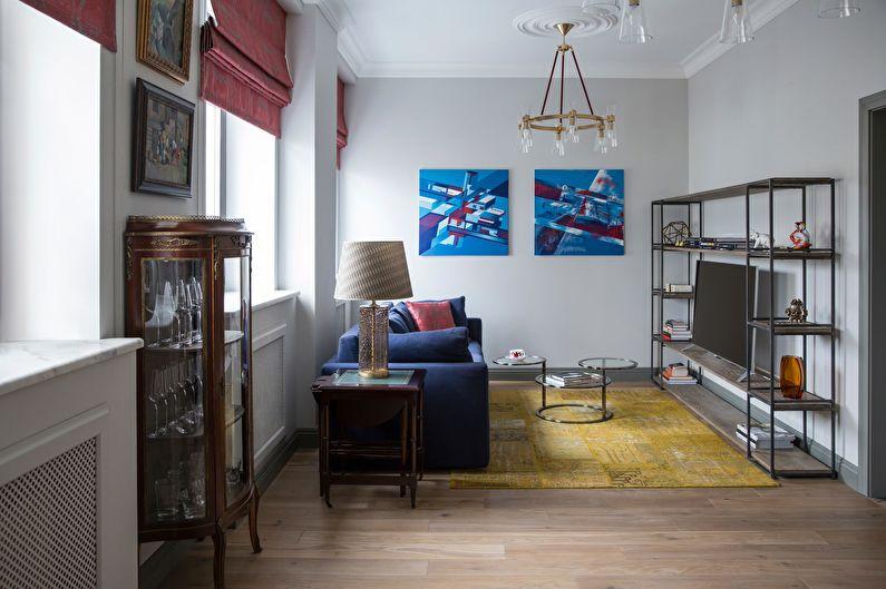 Римские шторы для гостиной (зала) - фото