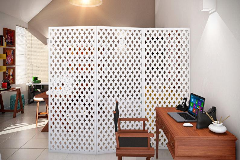 Зонирование однокомнатной квартиры - Ширмы