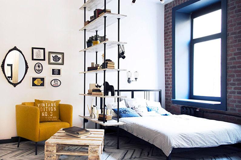 Зонирование однокомнатной квартиры - Стеллажи и шкафы