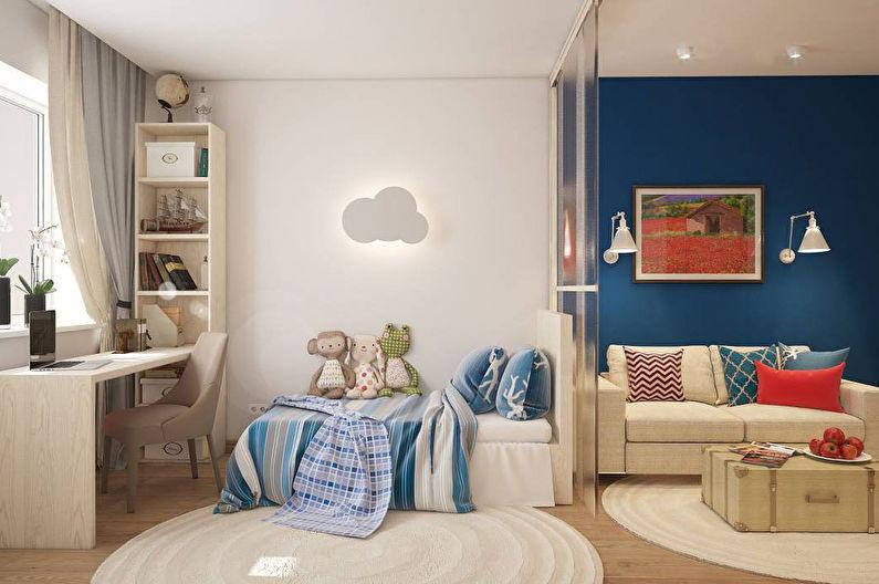 цель найти зонирование детской в однокомнатной квартире флейте Флейта для