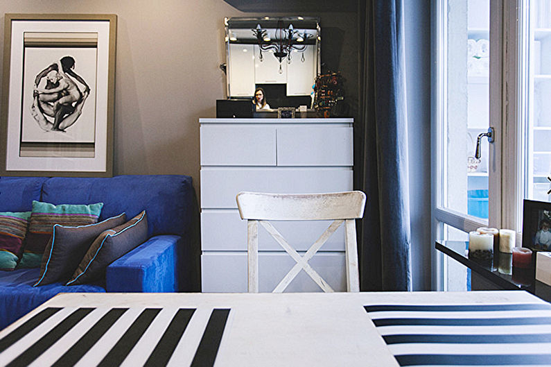 Зонирование однокомнатной квартиры в хрущевке