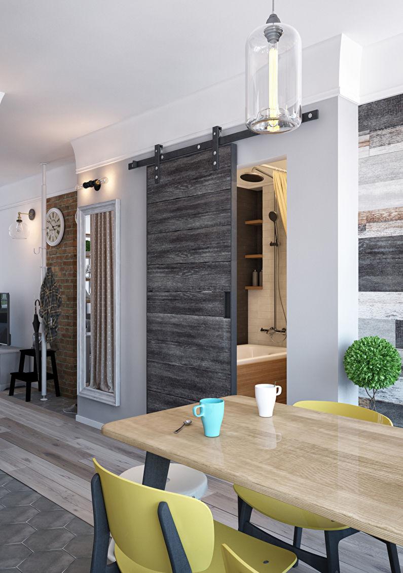 Светлая квартира-распашонка - Зонирование однокомнатной квартиры