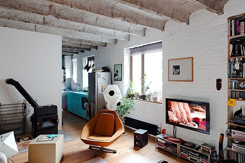 Уютный «книжный» лофт - Зонирование однокомнатной квартиры