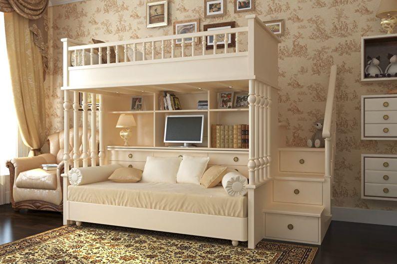 Обои для детской комнаты в классическом стиле