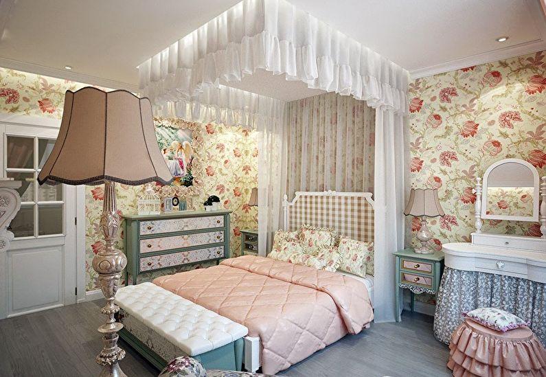 Обои для детской комнаты в стиле прованс
