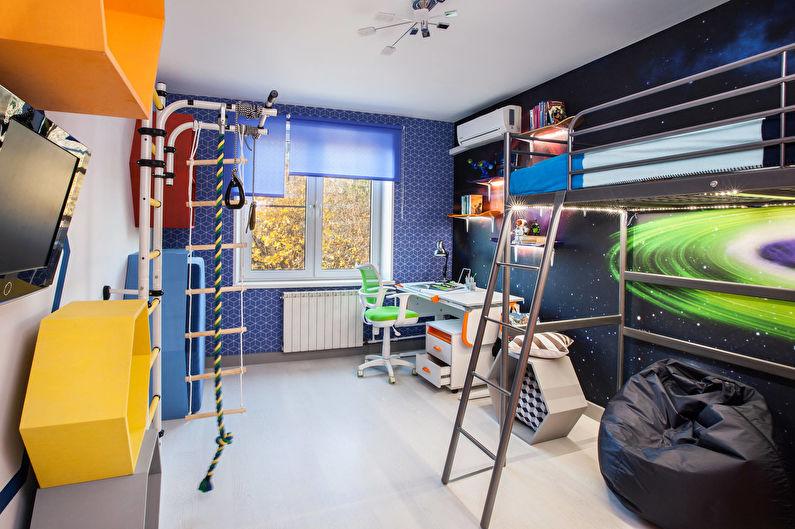 Обои для детской комнаты в космическом стиле