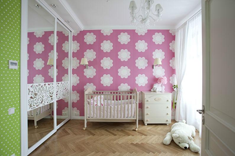 Выбираем обои для детской комнаты для девочек - 27 фото | 529x795
