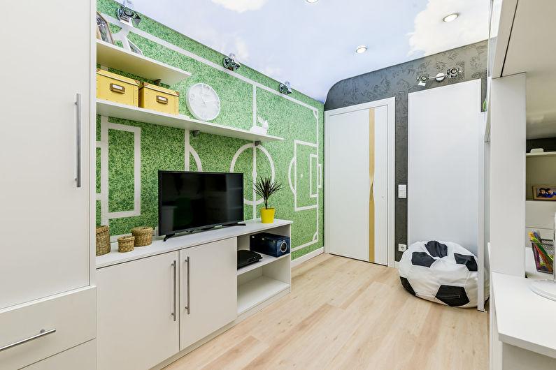 Зеленые обои для детской комнаты
