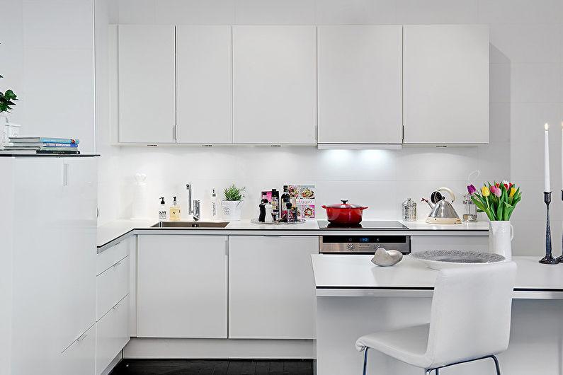 Белая кухня - Дизайн интерьера