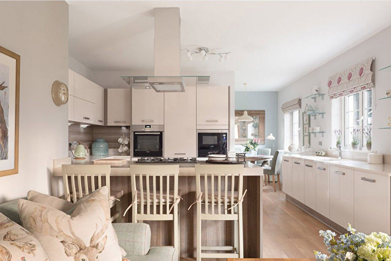 Бежевая кухня - Дизайн интерьера