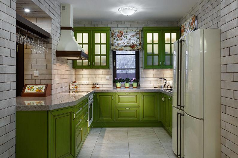 Зеленая кухня - Дизайн интерьера