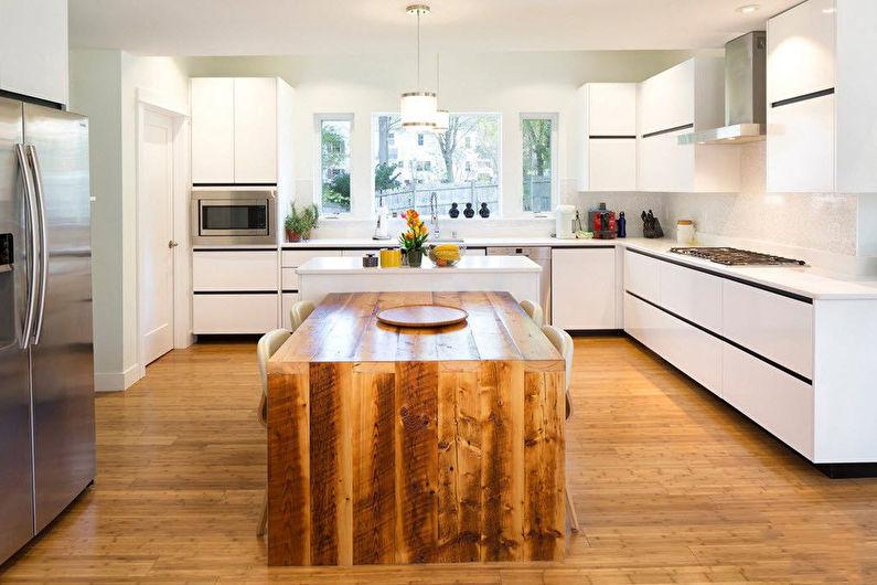 Дизайн кухни - Отделка пола
