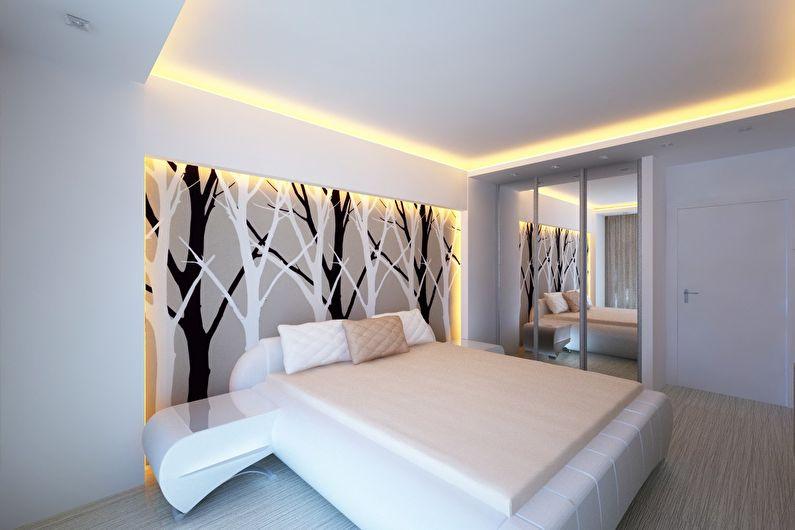 Натяжной потолок в спальне: 65 фото, идеи и дизайн потолка