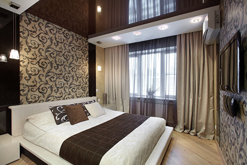 потолки в спальне. фото