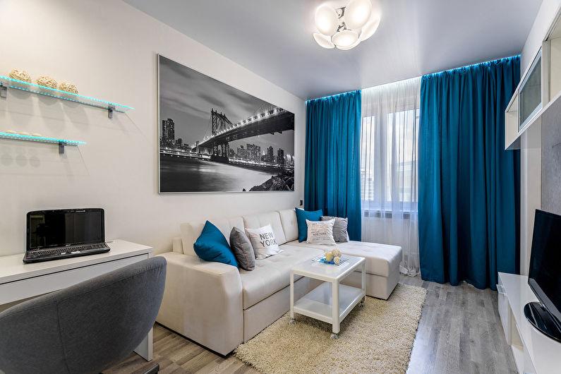 Небольшая квартира площадью 21 квадратный метр. Дизайн интерьера ...   530x795