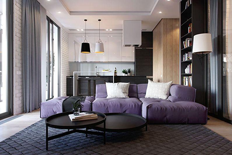 Дизайн кухни, совмещенной с гостиной (85 фото)