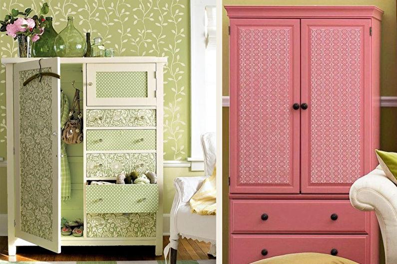 декор старого шкафа своими руками 11 идей как украсить и
