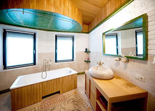 Ванная в загородном доме «Pure Stone»
