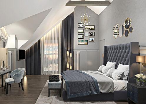 «Антрацит»: Дизайн спальни