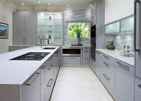 Встроенные кухни (65+ фото)