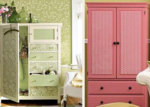 Декор старого шкафа своими руками: 11 идей