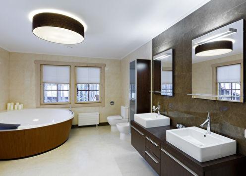 Villa «K»: Ванная комната в деревянном доме