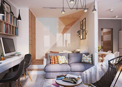 65 идей зонирования однокомнатной квартиры