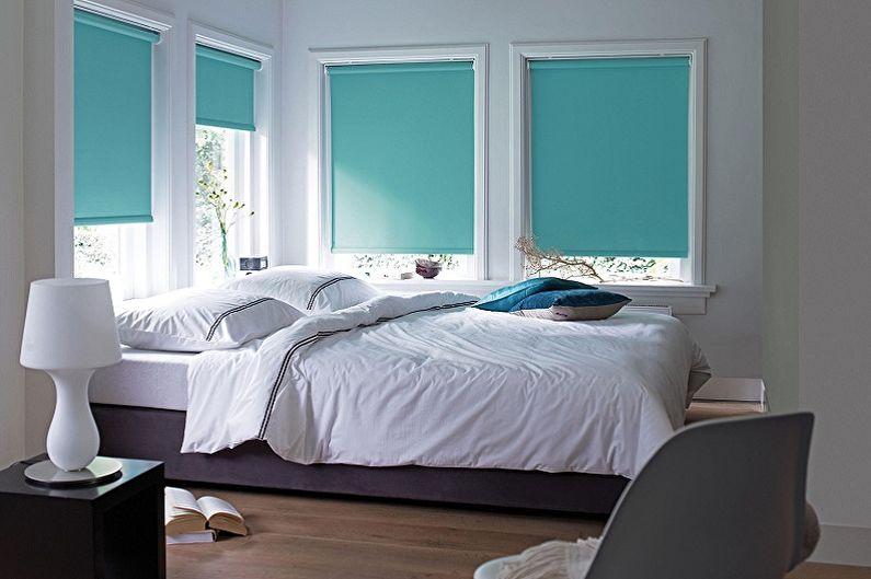 Yatak odası için stor perdeler - fotoğraf