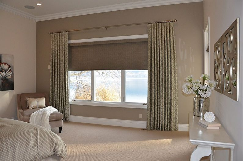 Рулонные шторы для спальни - фото