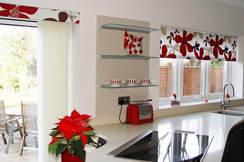 Рулонные шторы для кухни - фото