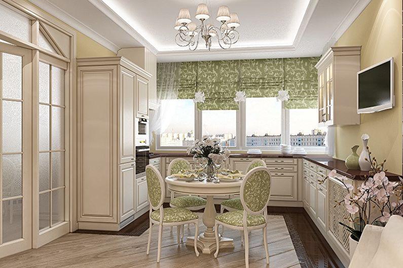 Кухня 15 кв.м. в классическом стиле - Дизайн интерьера