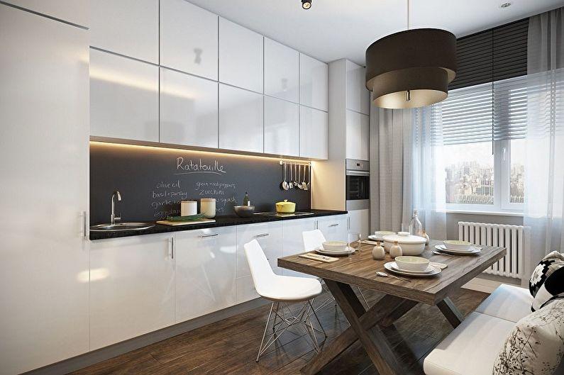 Кухня 15 кв.м. в современном стиле - Дизайн интерьера