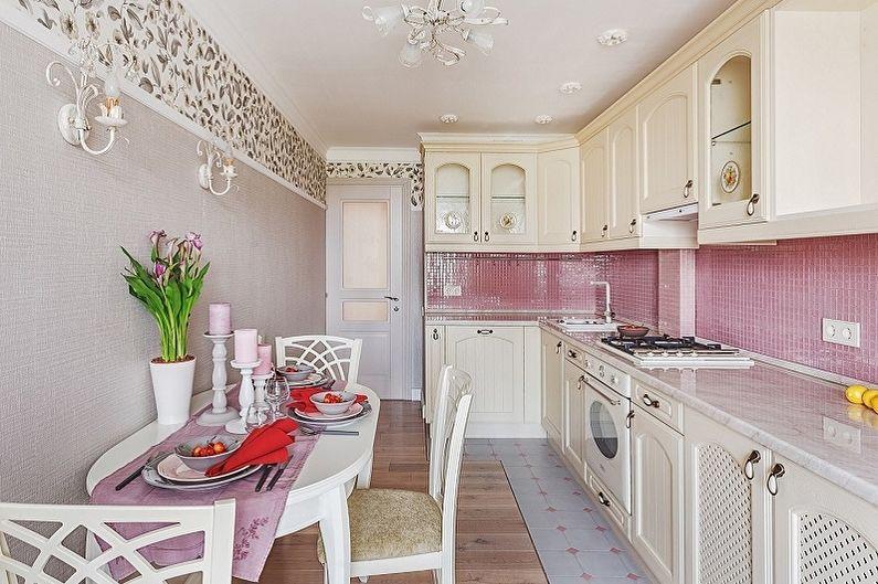 Кухня 15 кв.м. в стиле прованс - Дизайн интерьера