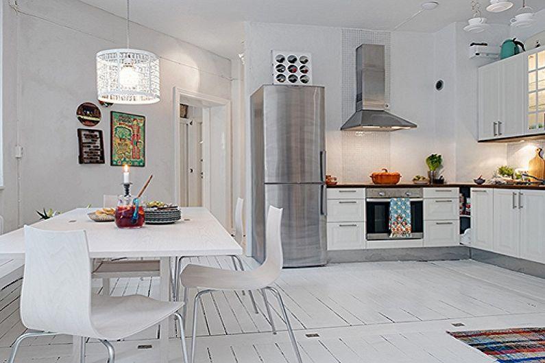 Кухня 15 кв.м. в скандинавском стиле - Дизайн интерьера