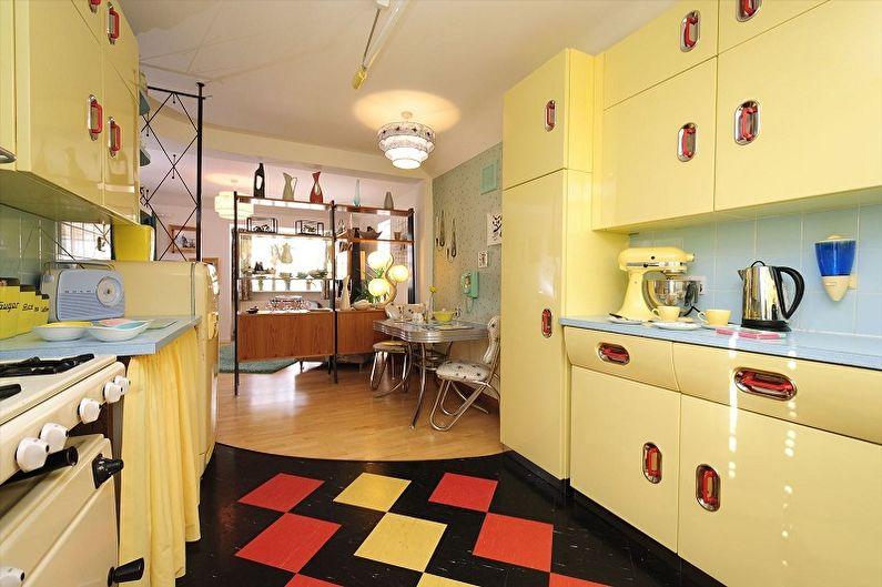 Кухня 15 кв.м. в стиле ретро - Дизайн интерьера