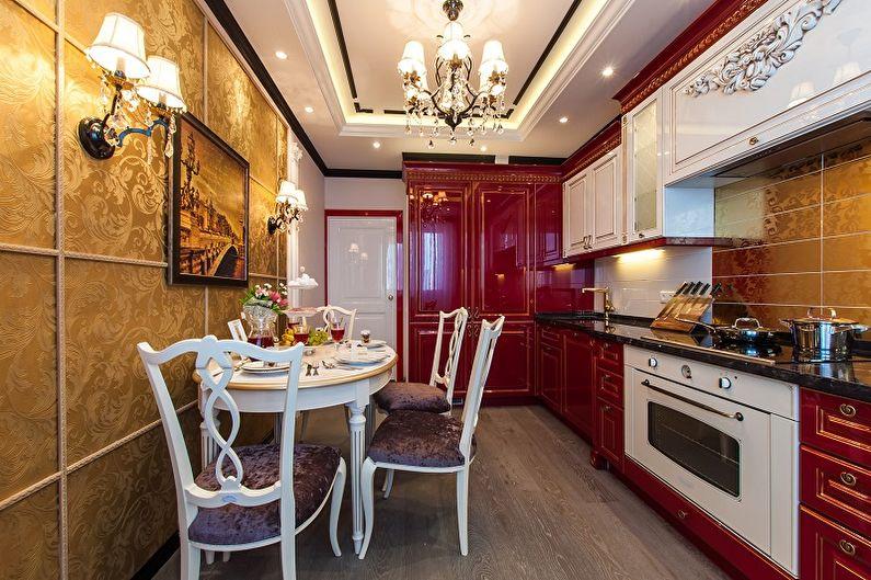Красная кухня 15 кв.м. - Дизайн интерьера