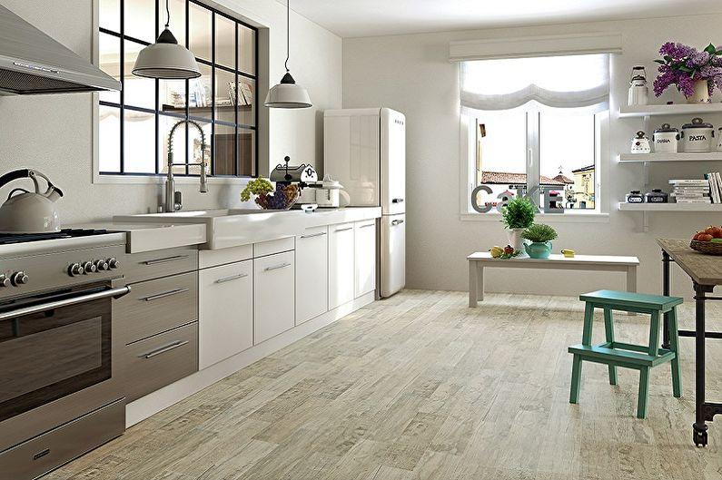 Дизайн кухни 15 кв.м. - Отделка пола
