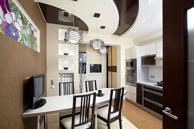 Дизайн кухни 15 кв.м. - Отделка потолка
