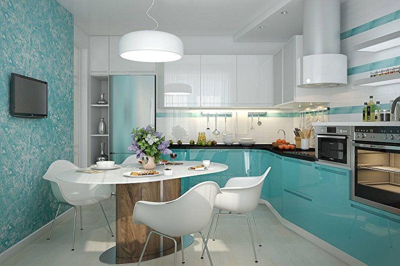 Дизайн кухни 15 кв.м. - Отделка стен