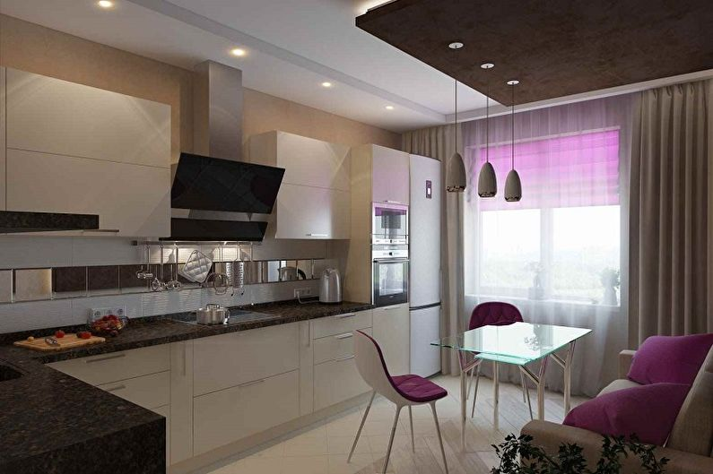 Дизайн кухни 15 кв.м. - фото