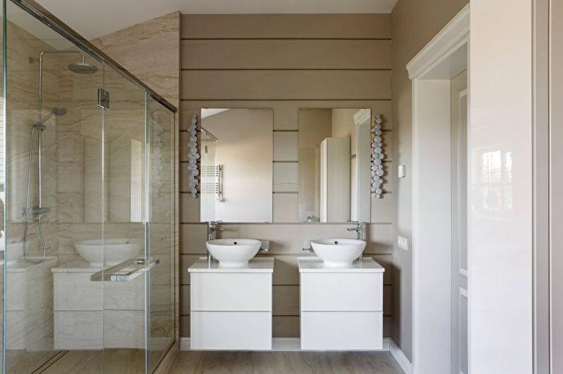 Ванная комната с душевой кабиной в современном стиле