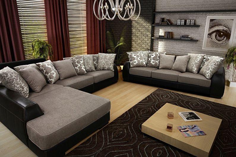Прямые и угловые модульные диваны