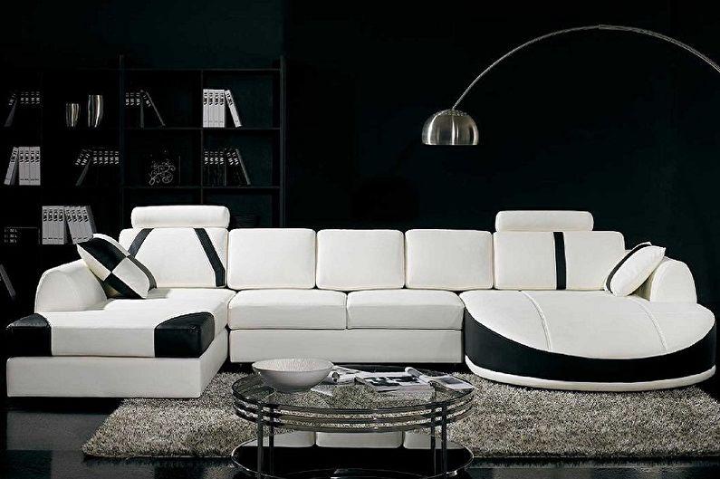 Модульные диваны и стили интерьера