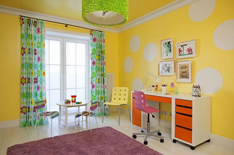 Краска для стен в детской комнате