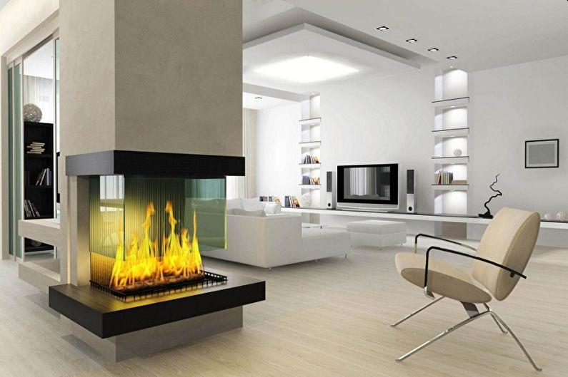 Дизайн гостиной в стиле хай-тек - Особенности