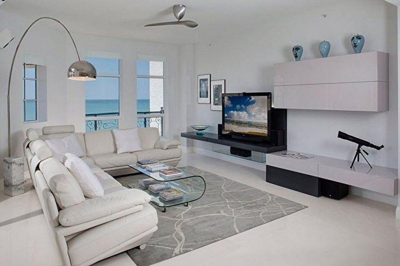 Маленькая гостиная в стиле хай-тек - Дизайн интерьера