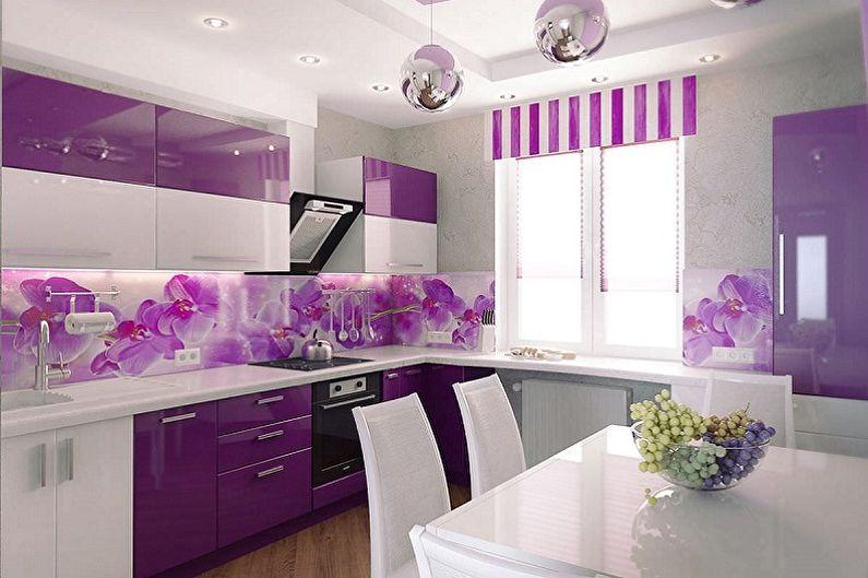 Дизайн фиолетовой кухни - Особенности