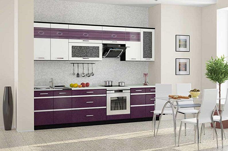 Дизайн фиолетовой кухни - Мебель