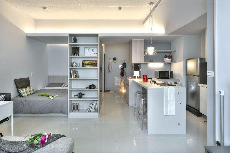 Планировка однокомнатной квартиры - Квартира-студия