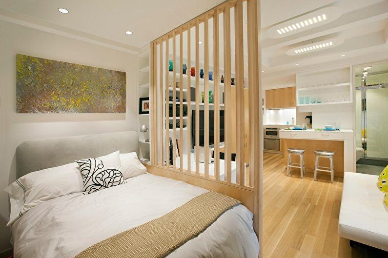 Планировка однокомнатной квартиры - Зонирование